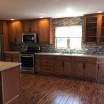 Brad and Ruth Walch Kitchen Remodel. Work done by: Alan Zebowski, Sue Hogg and Bob Hogg. Echelon Toffee, embony glaze cabinets